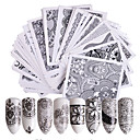 ieftine Acțibilde de Perete -48 pcs Nail Sticker Floare Hârtie de transfer