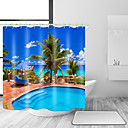 cheap Shower Curtains-Shower Curtains & Hooks Contemporary Modern Polyester Contemporary Novelty Machine Made Waterproof Bathroom