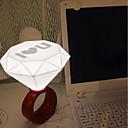 tanie Światła drogi-1 szt. MIŁOŚĆ Noc LED Light Biały Zasilanie baterią guzikową Urodziny / Dekoracja / Romantyczna Lampka LED / Lampka USB LED / Upominki