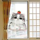 tanie Naklejki ścienne-Folie okienne i naklejki Dekoracja Nowoczesny Charakter PVC / Vinyl Naklejka okienna / Matowy