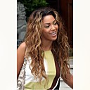 cheap One Pack Hair-Unprocessed Human Hair Lace Front Wig Brazilian Hair Wavy Wig Middle Part 130% Hair Density with Baby Hair Ombre Hair Dark Roots Auburn Women's Short Long Mid Length Human Hair Lace Wig Aili Young