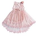 tanie Sukienki dla dziewczynek-Dzieci Dla dziewczynek Urlop Jendolity kolor Siateczka Bez rękawów Sukienka / Urocza