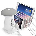 abordables Lámparas de Noche-YWXLIGHT® 1 juego Seta Luz de noche LED Blanco Fresco 5 puertos USB Decoración Creativo