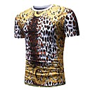 cheap Robes & Sleepwear-Men's Basic / Punk & Gothic Cotton T-shirt - Polka Dot / Leopard / Animal Round Neck / Short Sleeve