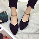 cheap Women's Flats-Women's Shoes Nubuck leather Spring / Fall Comfort Flats Flat Heel Black / Khaki