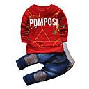 tanie Topy dla chłopców-Brzdąc Dla chłopców Aktywny / Moda miejska Sport Nadruk Długi rękaw Bawełna Komplet odzieży
