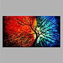 tanie Obrazy olejne-Hang-Malowane obraz olejny Ręcznie malowane - Abstrakcja Nowoczesny Płótno / Zwijane płótno