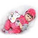 זול בובות-NPKCOLLECTION בובה מחדש תינוקות בנות 16 אִינְטשׁ סיליקון - יָלוּד כְּמוֹ בַּחַיִים Cute ידידותי לסביבה בטוח לשימוש ילדים Non Toxic הילד של יוניסקס / בנות צעצועים מתנות