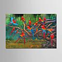 tanie Obrazy: motyw roślinny/botaniczny-Hang-Malowane obraz olejny Ręcznie malowane - Krajobraz Nowoczesny Płótno / Zwijane płótno