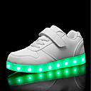 tanie Obuwie chłopięce-Dla chłopców Obuwie PU Jesień i zima Świecące buty Adidasy LED na Biały / Czarny / Czerwony