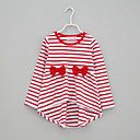 זול חולצות לבנות-בנות יומי פסים טישירט, חוטי זהורית אביב סתיו שרוול ארוך חמוד שחור אודם