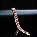 זול שרשרת אופנתית-בגדי ריקוד נשים קריסטל זירקונה מעוקבת שרשרת וצמידים - ציפוי זהב קלסי, וינטאג', אלגנטית צמידים ורוד עבור חתונה מסיבת ערב
