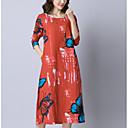tanie Sandały damskie-Damskie Luźna Swing Sukienka - Solidne kolory Niski stan Midi