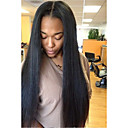 cheap Human Hair Wigs-Unprocessed Human Hair U Part Wig Brazilian Hair Straight Wig Layered Haircut 130% With Baby Hair / For Black Women Black Women's Short / Long / Mid Length Human Hair Lace Wig