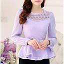 preiswerte Kleider für Mädchen-Damen Solide Bluse, Quadratischer Ausschnitt Polyester
