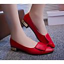 olcso Női alacsony cipők-Női Cipő PU Tavasz / Ősz Kényelmes Lapos Alacsony Fehér / Fekete / Piros