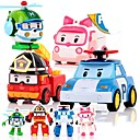cheap Anime & Manga Dolls-Animals Action Figure Car Transformable Plastic Shell Kid's Boys' Girls' Toy Gift 4 pcs