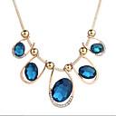 cheap Bracelets-Women's Cubic Zirconia Geometric Choker Necklace - Zircon Vintage Blue 50 cm Necklace Jewelry For Evening Party, Going out