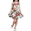 זול שמלות לבנות-שמלה כותנה כל העונות ללא שרוולים Party יומי ליציאה חגים בית הספר פרחוני דפוס סרוג הילדה של פשוט וינטאג' חמוד לבן