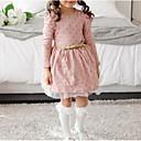 preiswerte Kleider für Mädchen-Mädchen Kleid Alltag Punkt Baumwolle Winter Frühling Langarm Spitze Rosa Marineblau