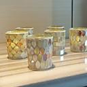 זול נרות ופמוטים-סגנון מינימליסטי / מודרני / עכשווי זכוכית פמוטים 6pcs, מחזיק נר / נרות