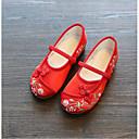 baratos Sapatos de Menina-Para Meninas Sapatos Tecido Primavera / Outono Conforto Rasos para Bege / Rosa claro / Vinho