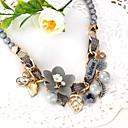 povoljno Ogrlice-Ogrlice-kragna Leaf Shape Cvijet Moda Imitacija bisera Legura Sive boje 48 cm Ogrlice Jewelry Za Dnevno Ulica