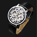 ieftine Ceasuri Mecanice-ASJ Bărbați Mecanism automat ceas mecanic Ceas de Mână Chineză Gravură scobită Piele Bandă Lux Modă Negru