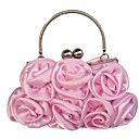 cheap Clutches & Evening Bags-Women's Bags Silk Evening Bag Embossed Red / Blushing Pink / Coffee