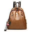 cheap Backpacks-Women's Bags PU Leather Backpack Zipper Character Black / Brown