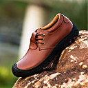tanie Oksfordki męskie-Męskie Komfortowe buty Skóra Wiosna / Jesień Oksfordki Czarny / brązowy