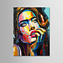 cheap Prints-Oil Painting Hand Painted - People Modern Canvas