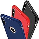 זול מגנים לטלפון & מגני מסך-מגן עבור Apple iPhone X / iPhone 8 / iPhone 7 מזוגג כיסוי אחורי אחיד רך סיליקון ל iPhone X / iPhone 8 Plus / iPhone 8