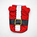 billige Hundeklær-Hunder / Katter / Kæledyr Vest Hundeklær Jul / Amerikansk / USA / Tegneserie Rød Bomull Kostume For kjæledyr Dame Fest / Ferie