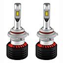 abordables Faros de Coche-2pcs H8 / 9006 / H1 Coche Bombillas 80W LED Integrado 8000lm 2 LED Luz de Casco For Universal Todos los modelos Todos los Años