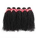 halpa Aitohiusperuukit-Intialainen / Kinky Curly Kihara Yksi pakkaus ratkaisu 6 pakettia Hiukset kutoo Pehmeä / Tulokas / kuuma Myynti Musta Hiukset Extensions Naisten