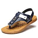 tanie Męskie obuwie sportowe-Męskie Komfortowe buty Sztuczne futro Lato Sandały Kolorowy blok Biały / Niebieski / Na zewnątrz