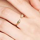 رخيصةأون أساور-للمرأة فتح الطوق - S925 فضة Leaf Shape لذيذ, أساسي, حلو 8 ذهبي من أجل هدية يوميا