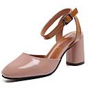 ieftine Pantofi Joși de Damă-Pentru femei PU Primăvară Confortabili Tocuri Toc Îndesat Vârf rotund Alb / Verde / Roz