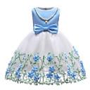 preiswerte Kleider für Mädchen-Baby Mädchen Grundlegend Solide Ärmellos Kleid Blau