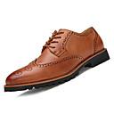 tanie Oksfordki męskie-Męskie Komfortowe buty PU Jesień Biznes / W stylu brytyjskim Oksfordki Czarny / brązowy