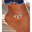 cheap Body Jewelry-Anklet - Alphabet Shape Vintage, Bohemian, Fashion Silver For Going out / Bikini