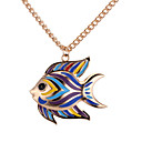 cheap Necklaces-Pendant Necklace - Fish European, Fashion, Colorful Gold, Silver 62 cm Necklace For Daily
