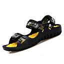זול נעלי ספורט לגברים-בגדי ריקוד גברים PU קיץ נוחות סנדלים קולור בלוק שחור אדום / שחור / כחול / שחור וצהוב