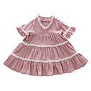 ieftine Seturi Îmbrăcăminte Fete-Copii Fete Mată Manșon scurt Rochie / Draguț
