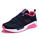 זול סניקרס לנשים-בגדי ריקוד נשים נעליים טול אביב קיץ נוחות נעלי אתלטיקה שטוח אפור בהיר / אדום / ורוד