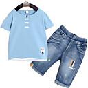 ieftine Pantaloni Băieți-Copii Băieți De Bază Mată Manșon scurt Set Îmbrăcăminte
