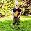 זול נעליים לטיניות-טישירט שרוולים קצרים טלאים אריה בנים ילדים / פעוטות