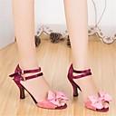 abordables Ropa para Baile de Salón-Mujer Zapatos de Baile Latino Seda Tacones Alto Tacón Stiletto Zapatos de baile Rosa / Rendimiento / Cuero / Entrenamiento