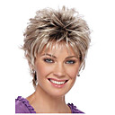 cheap Sprinkle® Faucets-Ombre Straight Golden Pixie Cut Synthetic Hair Natural Hairline Golden / Burgundy Wig Women's Short Capless / Yes